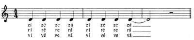 Ajakkerekítéses hangzók beéneklő gyakorlata